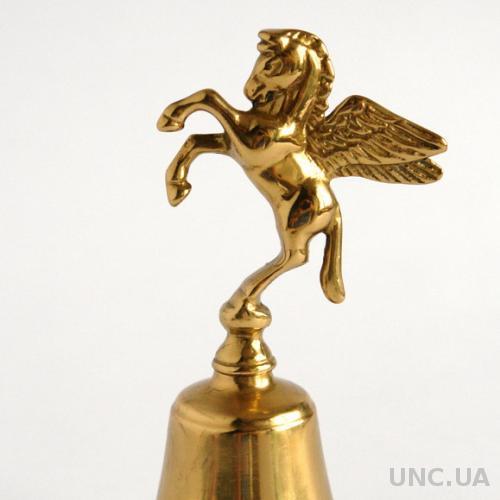 Антикварный бронзовый колокольчик Пегас, Germany