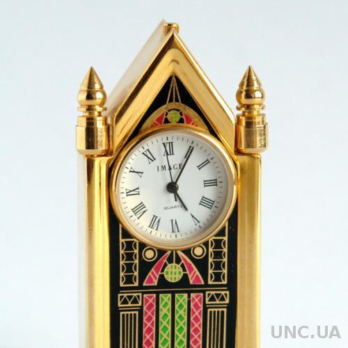 Часы коллекционные миниатюрные камин. IMAGE кварц