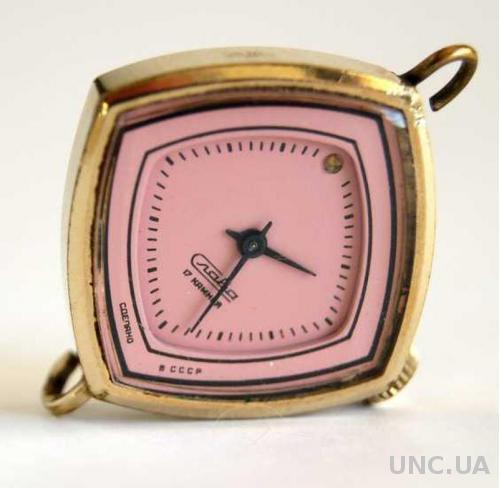 Часы женские механика позолота Слава 1986 г. СССР