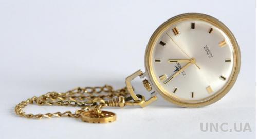 Карманные позолоченные часы Dugena 1973 г. Germany