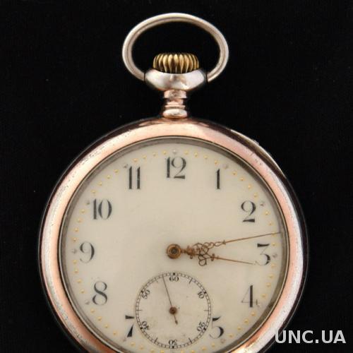 Карманные серебряные часы ZENITH 1896 г. Швейцария