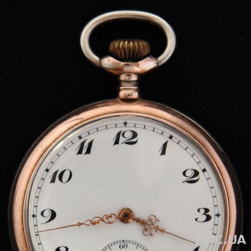 Карманные серебряные мужские часы, Швейцария