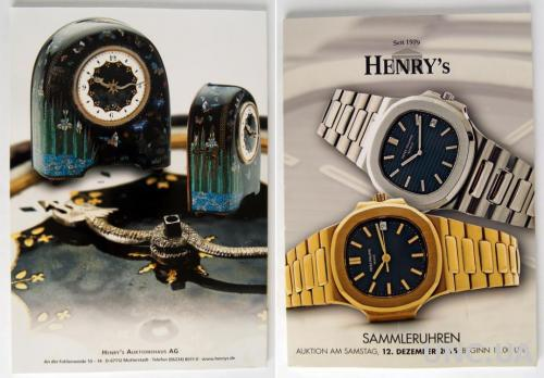 Каталог аукциона Henry's Часы. Декабрь 2015