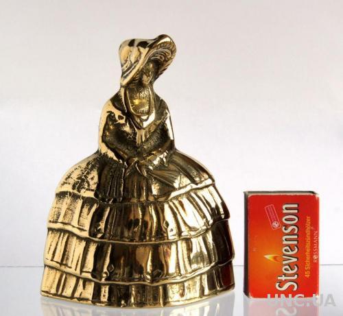 Колокольчик латунный Lady in Crinoline Леди в кринолине Англия
