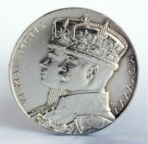Медаль юбилейная Георг V серебро 925 1935 England