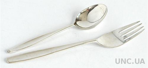 Набор десертный, серебро 800