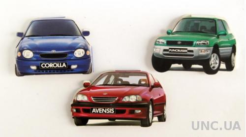 Спички, 3 штуки, коллекция №35, Toyota