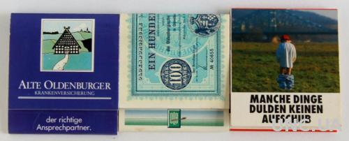 Спички, 3 штуки, коллекция №40, Германия