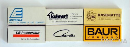 Спички, 6 штук, коллекция №12, Германия
