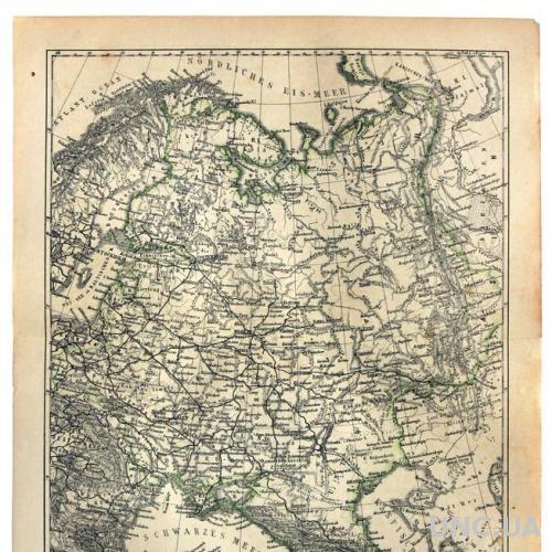 Карта Европейская Россия 1874–78 Германия Оригинал Fv8.8