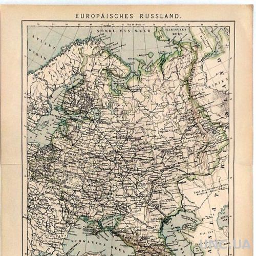 Карта Европейская Россия 1892-95 Германия Fv8.8