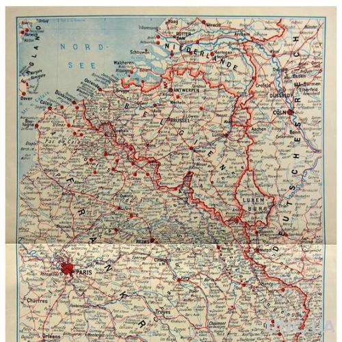 Карта Западный театр военных действий Первая мировая 1919 Fv8.3