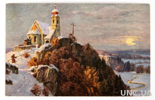 Открытка #3835 Рождество 1920 W. Burger Германия