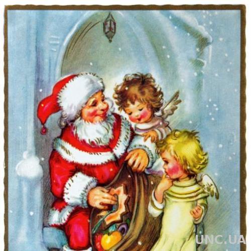 Открытка почтовая карточка Счастливого Рождества 1960-е Финляндия Fv8.4