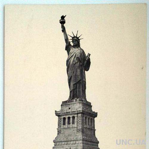 Открытка почтовая карточка Статуя Свободы 1920-е гг. США Fv8.4