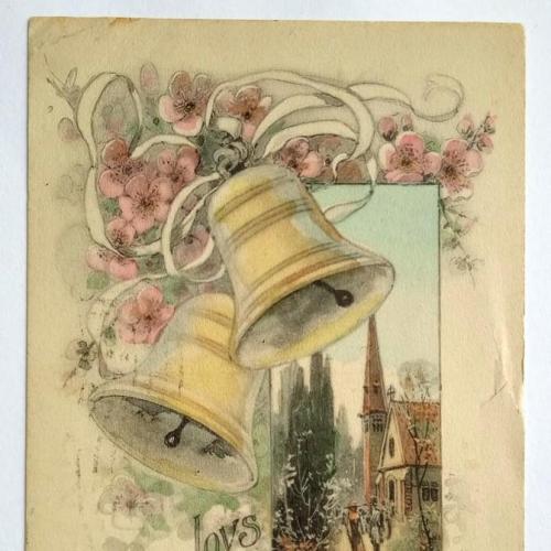 Поштова карточка листівка открытка Щасливого Великодня 1911 рік USA Yu62