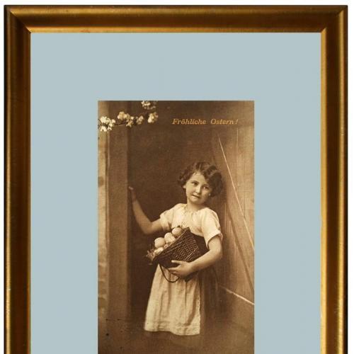 Поштова карточка листівка открытка Щасливого Великодня 1913 рік Germany Yu81