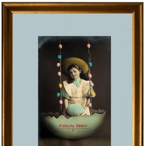 Поштова карточка листівка открытка Щасливого Великодня поч. ХХ ст. Germany Yu80