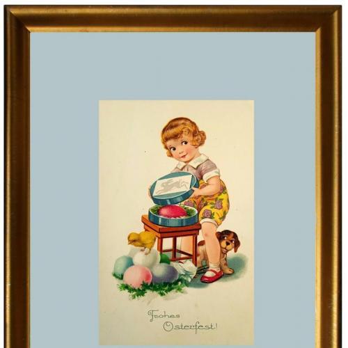 Поштова карточка листівка открытка Щасливого Великодня поч. ХХ ст. Germany Yu82