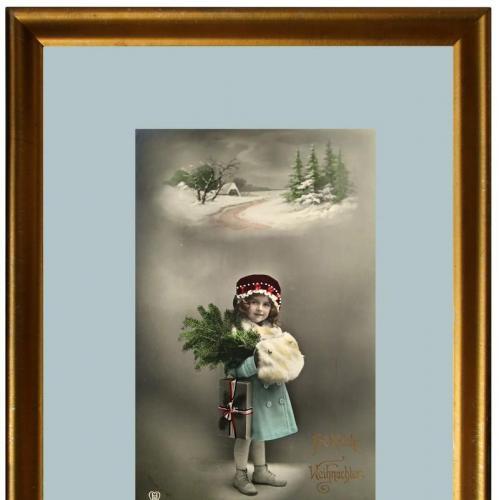 Поштова карточка листівка открытка Веселого Різдва 1915 рік Germany Yu90