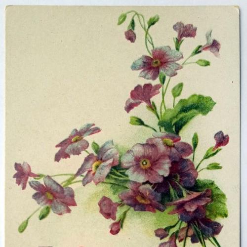 Поштова карточка листівка открытка З Богом в серці поч. ХХ ст. Germany Yu38