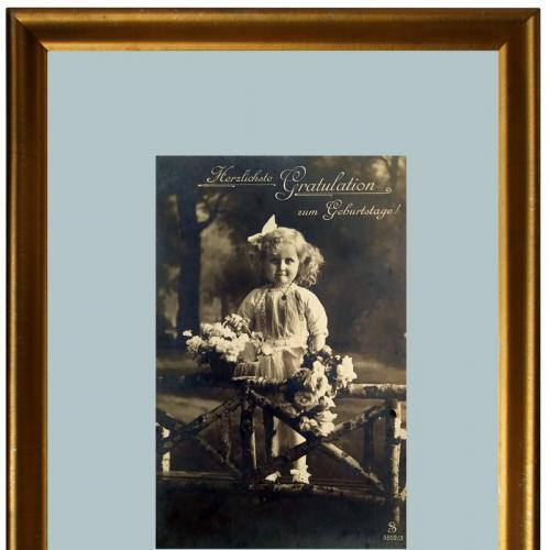 Поштова карточка листівка открытка З Днем народження 1914 рік Switzerland Yu74
