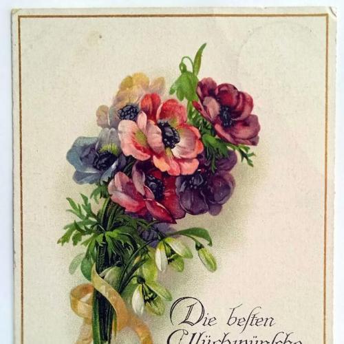Поштова карточка листівка открытка З Днем народження 1918 рік Germany Yu36
