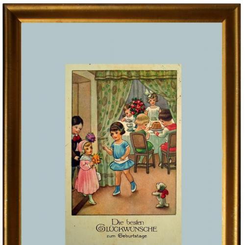 Поштова карточка листівка открытка З Днем народження поч. ХХ ст. Germany Yu72