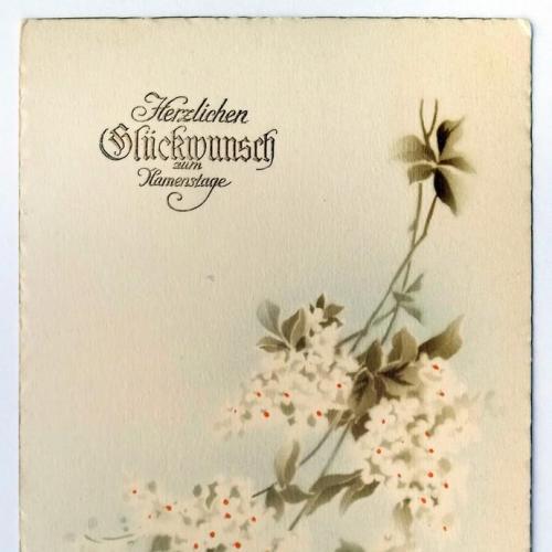 Поштова карточка листівка открытка З іменинами поч. ХХ ст. Germany Yu39