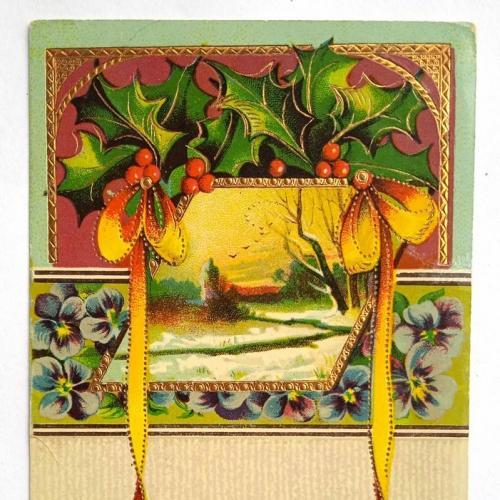 Поштова карточка листівка открытка З Новим роком 1913 рік USA Yu63