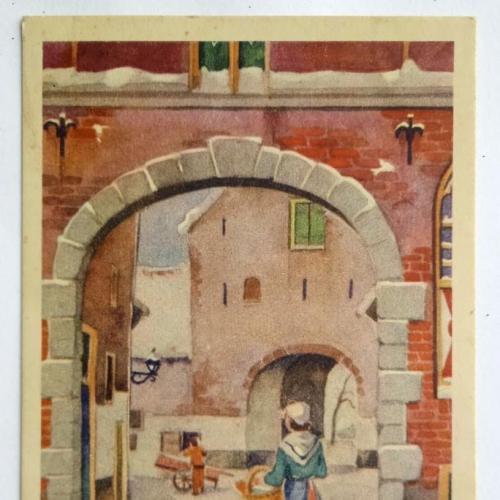 Поштова карточка листівка открытка З Новим роком поч. ХХ ст. Holland Yu64