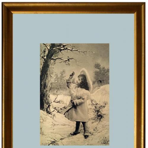 Поштова карточка листівка открытка Зимові розваги 1905 рік Germany Yu88