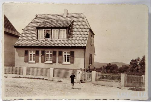Старое фото Дом и семья военного 1920-е, Германия