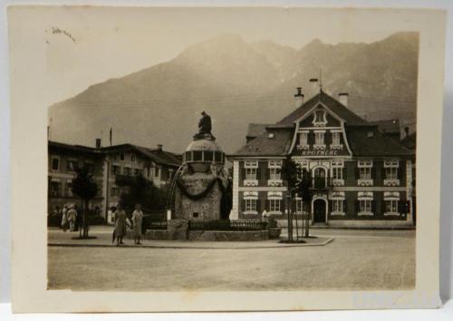 Старое фото Фонтан и аптека 1920-е гг, Германия