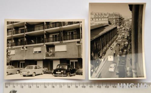 Старые фото Авто в городе 2 шт 1950-60-е Германия