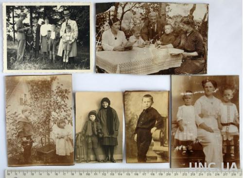 Старые фото Дети, 6 шт., нач. ХХ века, Германия