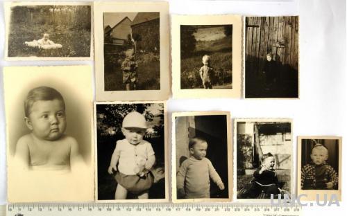 Старые фото Малыши, 9 шт., нач-сер. ХХ в, Германия