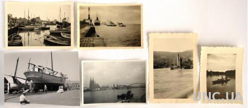 Старые фото На воде, 6 шт., ср. ХХ в., Германия