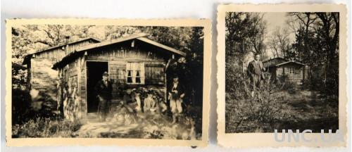Старые фото Охотничий домик, 2 шт ср ХХ в Германия