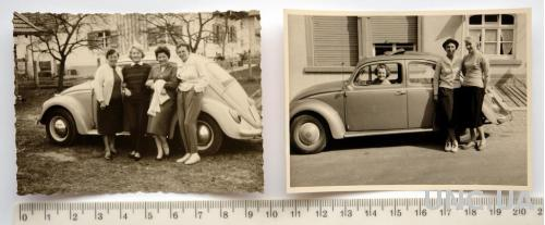 Старые фото Рядом с Volkswagen 2 шт. 1950 Германия