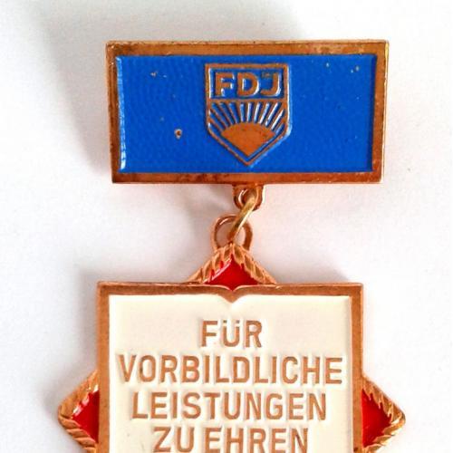 Значок За досягнення на честь НДР ГДР DDR FGJ