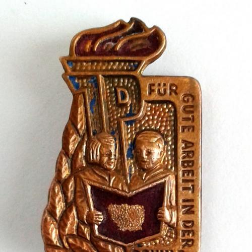 Значок За хорошу роботу в школі 1975 рік НДР ГДР Thälmannpioniere DDR