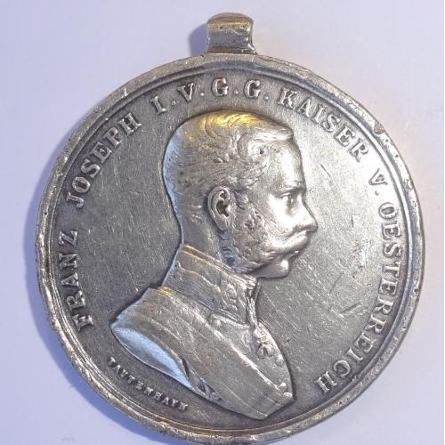 АВСТРИЯ  1908Г, МЕДАЛЬ, СЕРЕБРО.