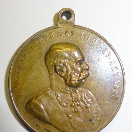 МЕДАЛЬ, АВСТРИЯ, 1898 ГОД, БРОНЗА,