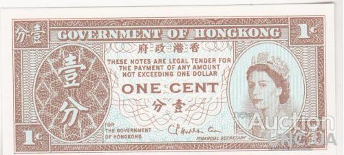 Гонконг 1 цент 1971 UNC
