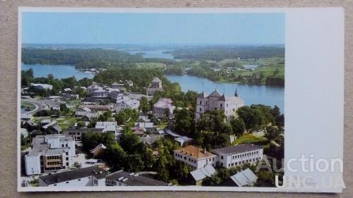 Открытка - Виды городов - Тракай - Панорама города