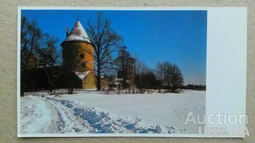 Открытка - Виды городов - Тракай - Защитная башня замка на острове XV в.