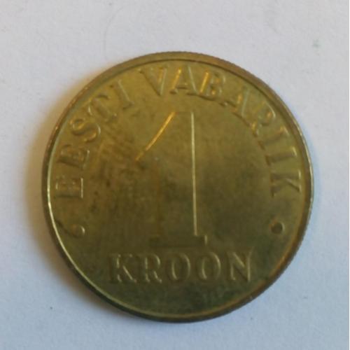 Монеты Эстонии: 1 крона 2001 г.