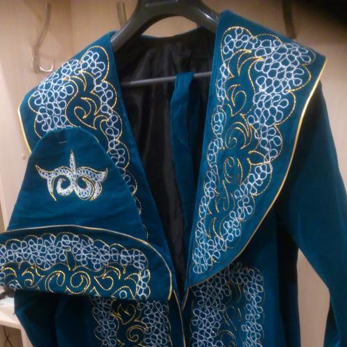 Шапан / чапан - казахский национальный костюм (халат и головной убор), размер 50-54