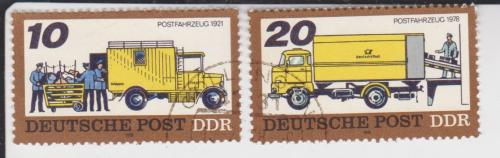 Марки ГДР 2 шт. Автомобили